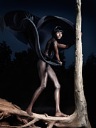 Afro Photos - Woman and Dead Tree by Oleksiy Maksymenko