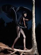 Woman And Dead Tree Print by Oleksiy Maksymenko