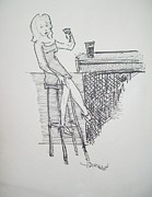 James  Christiansen - Woman at the Bar