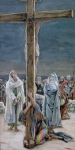 The Wooden Cross Art - Woman Behold Thy Son by Tissot