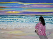 Woman By The Sea Print by Phyllis Kaltenbach