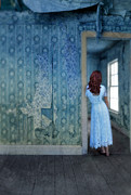 Mysterious Doorway Posters - Woman in Abandoned House Poster by Jill Battaglia