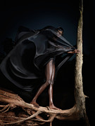 Black Dress Photos - Woman in Black Flying Outfit by Oleksiy Maksymenko