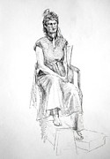 Woman In Dress Print by Mark Johnson