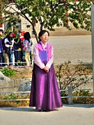 Contemplative Art - Woman in Hanbok by Michael Garyet