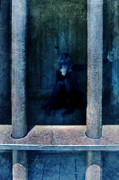 Miserable Framed Prints - Woman in Jail Framed Print by Jill Battaglia