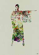 Hostess Prints - Woman in Kimono Print by Irina  March