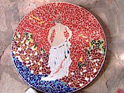 Table Ceramics - Woman in Red by Ofra Moran