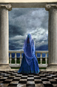 Aristocracy Photos - Woman in Renaissance Clothing on Balcony by Jill Battaglia