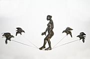 High Relief Reliefs Originals - Woman In The Balance by Janet Knocke
