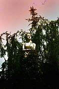 Statue Photographs Prints - Woman in the Weeds Print by Bill Cannon