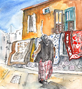 Capital Drawings - Woman in Turkish Nicosia by Miki De Goodaboom