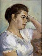 Dionisii Donchev - Woman in white blouse