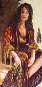 Italian Wine Paintings - Woman in Winery by Ruthe Dawes