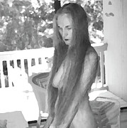 Nude Naked Female Nipple Women Breast Photos - Woman in Wood by N Taylor