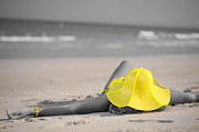 Sun Hat Framed Prints - Woman in yellow hat Framed Print by MotHaiBaPhoto Prints