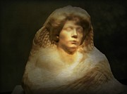 Woman Head Sculpture Prints - Woman Print by Irina Hays