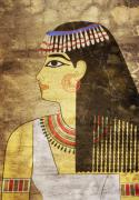 Rare Mixed Media Framed Prints - Woman of Ancient Egypt Framed Print by Michal Boubin