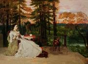 Companion Metal Prints - Woman of Frankfurt Metal Print by Gustave Courbet