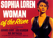 1950s Portraits Posters - Woman Of The River, Aka La Donna Del Poster by Everett