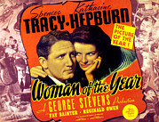Arm Around Shoulder Posters - Woman Of The Year, Spencer Tracy Poster by Everett