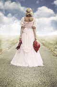 Wedding Garment Posters - Woman On A Street Poster by Joana Kruse