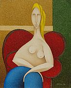 S A C H A -  Circulism Technique - Woman on Red Chair   2008
