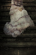 Wedding Dress Photos - Woman On Steps by Joana Kruse