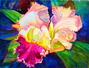 Puerto Rico Paintings - Woman Orchid by Estela Robles