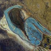Sleeping Mixed Media - Woman Resting by Yulonda Rios