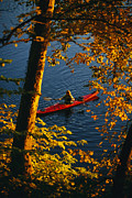 River Scenes Photos - Woman Seakayaking On The Potomac River by Skip Brown