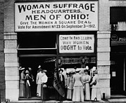 Social Movements Prints - Woman Suffrage Headquarters Print by Everett