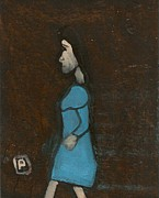 Postal Originals - Woman walking by Peter  McPartlin
