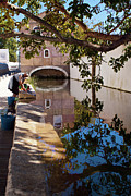 Europe Photo Originals - Woman Washing Clothes by a Stream by Dias Dos Reis
