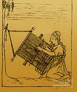 Inca Framed Prints - Woman Weaving Framed Print by Science Source