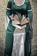 Chain Necklace Art - Woman With A Book by Joana Kruse