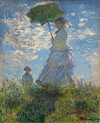 Impressionistic Paintings - Woman with a Parasol by Extrospection Art