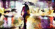 Vincent Dinovici Art - Woman with an umbrella TNM by Vincent DiNovici
