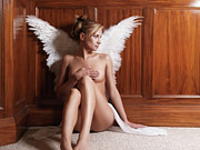 Twentysomething Photo Posters - Woman with Angel Wings Poster by Oleksiy Maksymenko