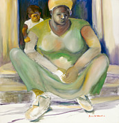 African Child Originals - Woman with Child by Bettye  Harwell
