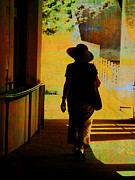 Yellow And Brown Posters - Woman with Hat Poster by Ann Powell