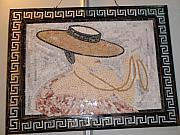 Mosaic Reliefs - Woman With Hat by Petrit Metohu