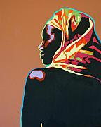Gail Zavala - Woman with Headscarf