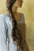 Braid Photos - Woman with Long Braid by Jill Battaglia