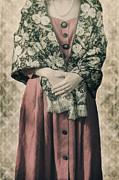 Woman With Shawl Print by Joana Kruse
