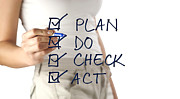 Woman Writing Plan Do Check Act Print by Blink Images