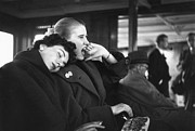 Mid Adult Women Posters - Woman Yawning Poster by Bert Hardy