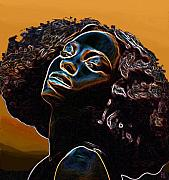 Profile Posters - Womans Essence II              Poster by Byron Fli Walker