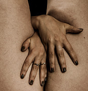 Pierre-jean Grouille Photo Metal Prints - Womans Hands Metal Print by Pierre-jean Grouille