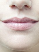 Chin Up Photo Prints - Womans Mouth Print by